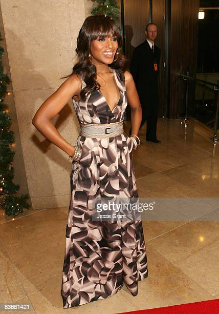 Actress Kerry Washington arrives at the 23rd Annual American Cinematheque Awards held at the Beverly Hilton on December 1 2008 in Beverly Hills...