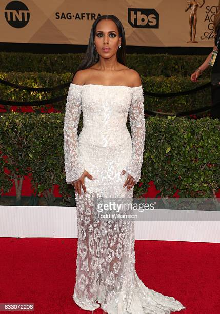 Actress Kerry Washington arrives at the 23rd Annual Screen Actors Guild Awards at The Shrine Expo Hall on January 29 2017 in Los Angeles California