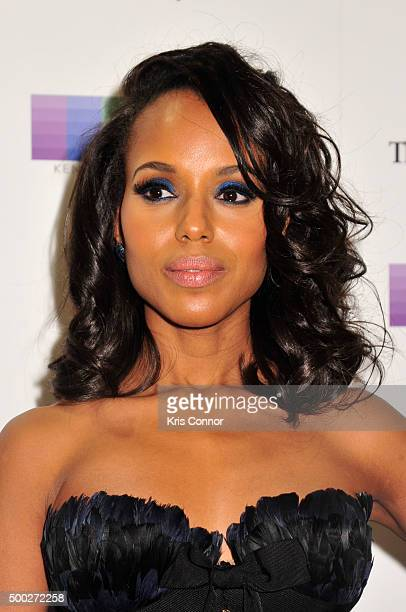 Actress Kerry Washington arrives at the 38th Annual Kennedy Center Honors Gala at the Kennedy Center for the Performing Arts on December 6 2015 in...