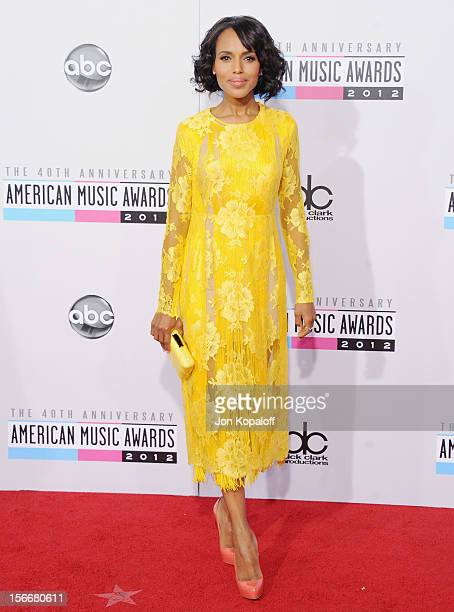 Actress Kerry Washington arrives at The 40th American Music Awards at Nokia Theatre LA Live on November 18 2012 in Los Angeles California