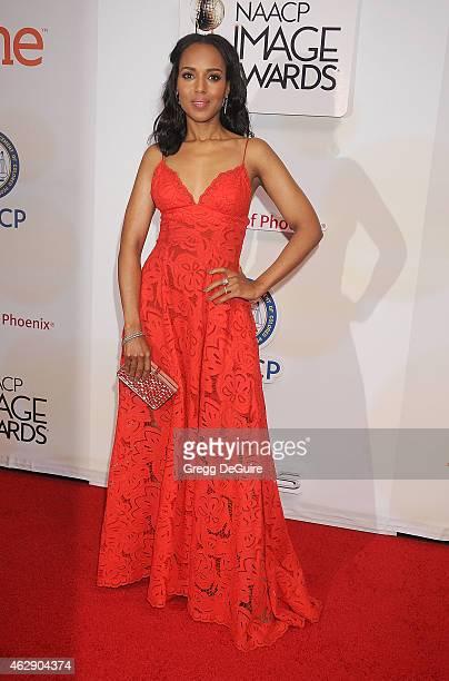 Actress Kerry Washington arrives at the 46th Annual NAACP Image Awards at the Pasadena Civic Auditorium on February 6 2015 in Pasadena California