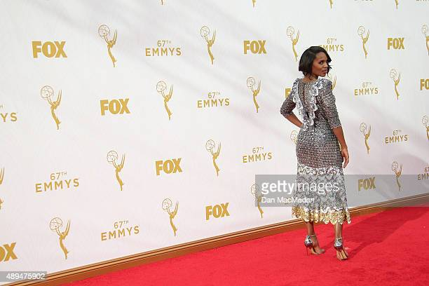 Actress Kerry Washington arrives at the 67th Annual Primetime Emmy Awards at the Microsoft Theater on September 20 2015 in Los Angeles California