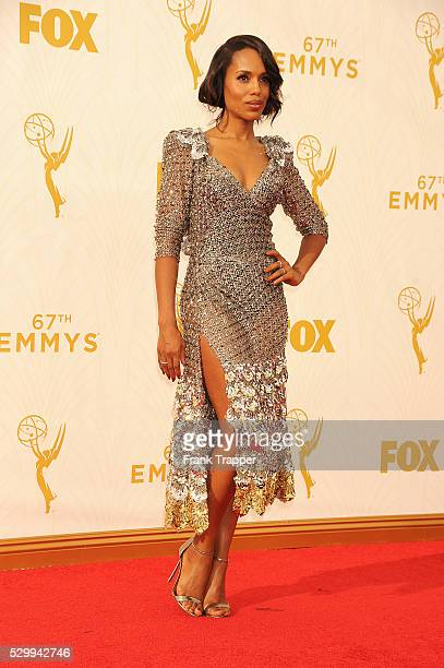 Actress Kerry Washington arrives at the 67th Annual Primetime Emmy Awards held at the Microsoft Theater