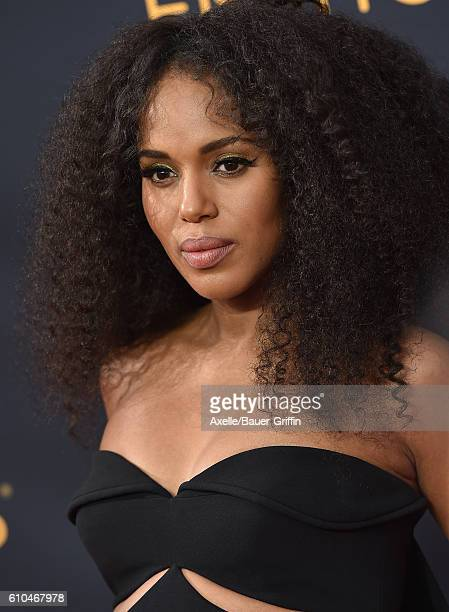Actress Kerry Washington arrives at the 68th Annual Primetime Emmy Awards at Microsoft Theater on September 18 2016 in Los Angeles California