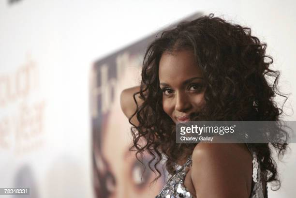 Actress Kerry Washington arrives at the 7th Annual Breakthrough Of The Year Awards at the Music Box at the Henry Fonda Theater on December 9 2007 in...