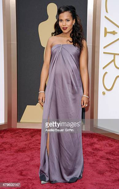 Actress Kerry Washington arrives at the 86th Annual Academy Awards at Hollywood Highland Center on March 2 2014 in Hollywood California