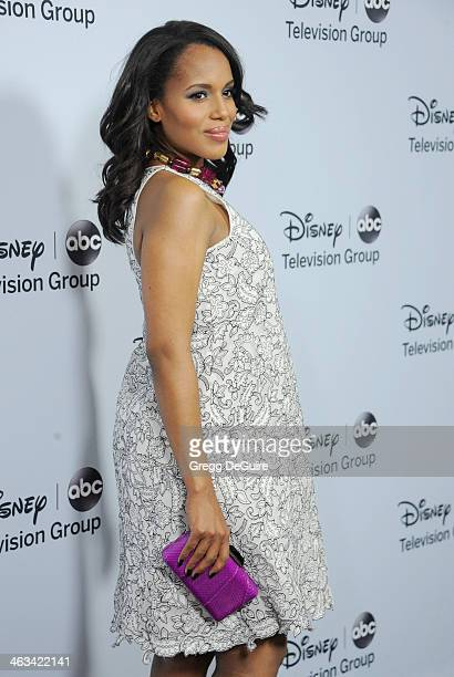 Actress Kerry Washington arrives at the ABC/Disney TCA Winter Press Tour party at The Langham Huntington Hotel and Spa on January 17, 2014 in...