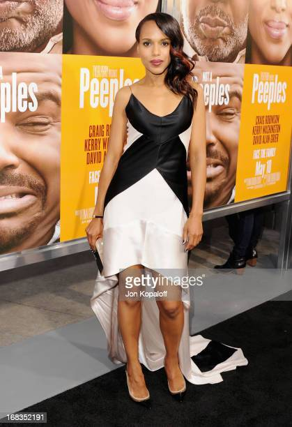 Actress Kerry Washington arrives at the Los Angeles Premiere 'Peeples' at ArcLight Hollywood on May 8 2013 in Hollywood California