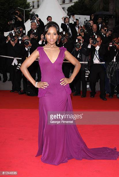 Actress Kerry Washington arrives at the 'Palermo Shooting' at the Palais des Festivals during the 61st International Cannes Film Festival on May 24...