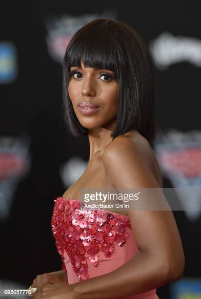 Actress Kerry Washington arrives at the premiere of 'Cars 3' at Anaheim Convention Center on June 10 2017 in Anaheim California