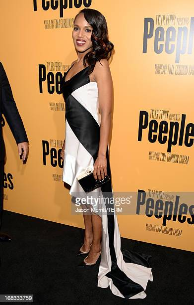 Actress Kerry Washington arrives at the premiere of Peeples presented by Lionsgate Film and Tyler Perry at ArcLight Hollywood on May 8 2013 in...