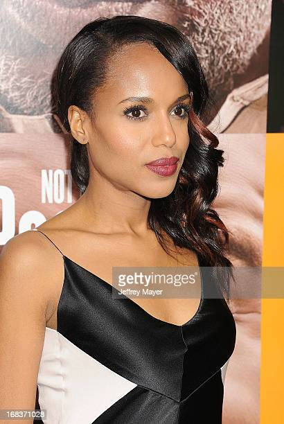 Actress Kerry Washington arrives at the premiere of 'Peeples' presented by Lionsgate Film and Tyler Perry at ArcLight Hollywood on May 8 2013 in...