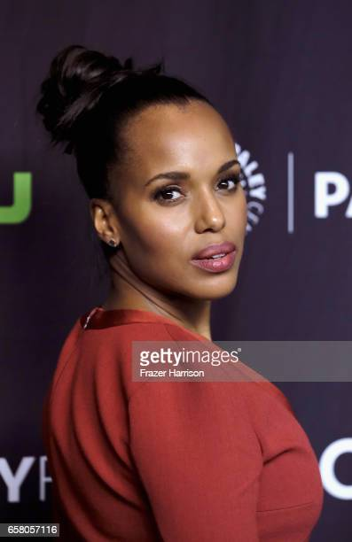 Actress Kerry Washington arrives at the screening and panel for Scandal at The Paley Center For Media's 34th Annual PaleyFest Los Angeles at Dolby...