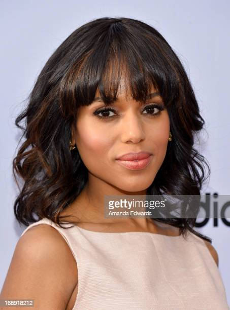 Actress Kerry Washington arrives at the Season 2 finale screening of Scandal hosted by The Academy of Television Arts Sciences at the Leonard H...