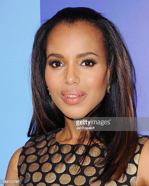 Actress Kerry Washington arrives at Variety's 5th Annual Power Of Women Event at the Beverly Wilshire Four Seasons Hotel on October 4 2013 in Beverly...