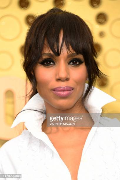 US actress Kerry Washington arrives for the 71st Emmy Awards at the Microsoft Theatre in Los Angeles on September 22 2019