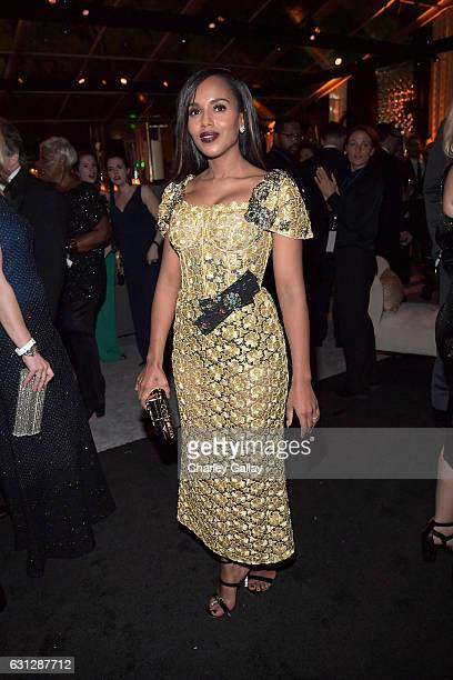 Actress Kerry Washington at The Weinstein Company and Netflix Golden Globes Party presented with Landmark Vineyards at The Beverly Hilton Hotel on...