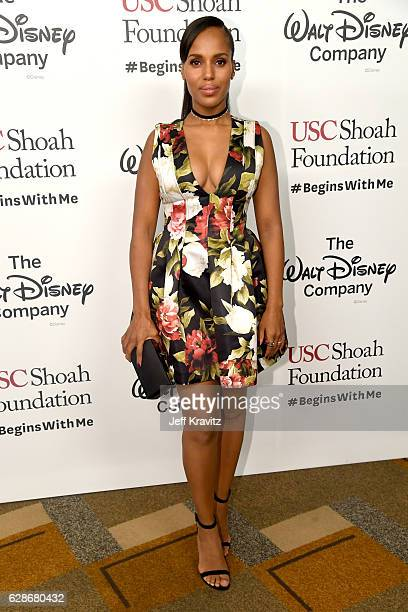 Actress Kerry Washington attends Ambassadors for Humanity Gala Benefiting USC Shoah Foundation at The Ray Dolby Ballroom at Hollywood Highland Center...
