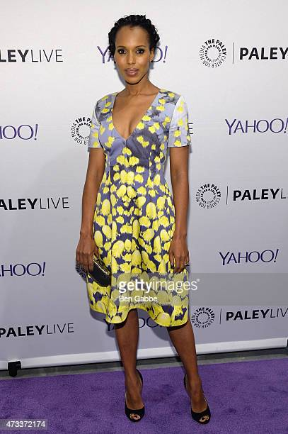 Actress Kerry Washington attends an evening with the cast of Scandal presented by The Paley Center For Media at The Paley Center For Media on May 14...