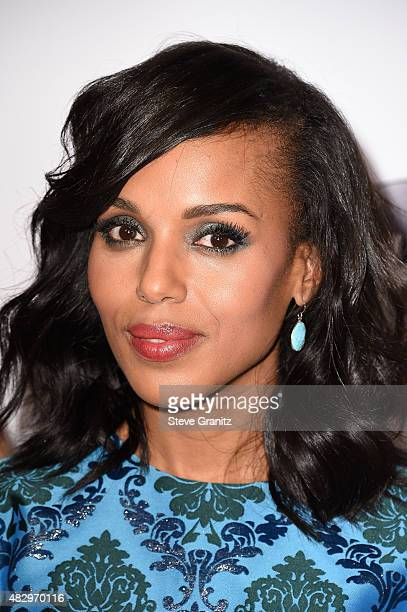 Actress Kerry Washington attends Disney ABC Television Group's 2015 TCA Summer Press Tour at the Beverly Hilton Hotel on August 4 2015 in Beverly...