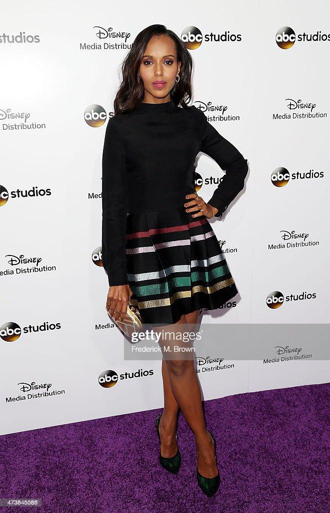 Actress Kerry Washington attends Disney Media Disribution International Upfronts at Walt Disney Studios on May 17, 2015 in Burbank, California.