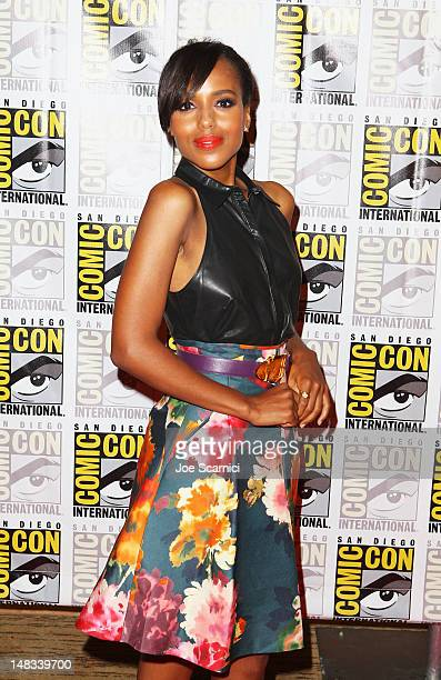 Actress Kerry Washington attends Django Unchained at ComicCon 2012 at Hilton San Diego Bayfront Hotel on July 14 2012 in San Diego California