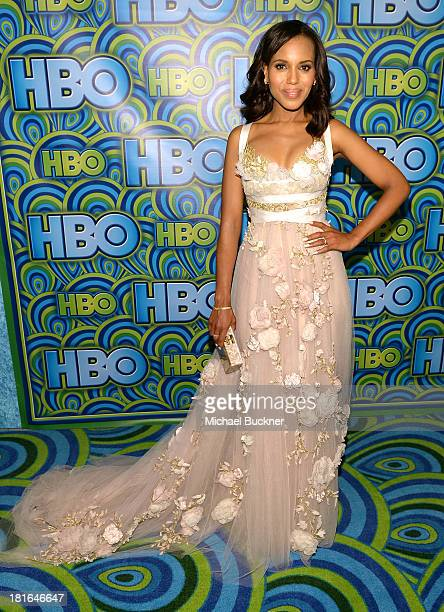 Actress Kerry Washington attends HBO's Annual Primetime Emmy Awards Post Award Reception at The Plaza at the Pacific Design Center on September 22...