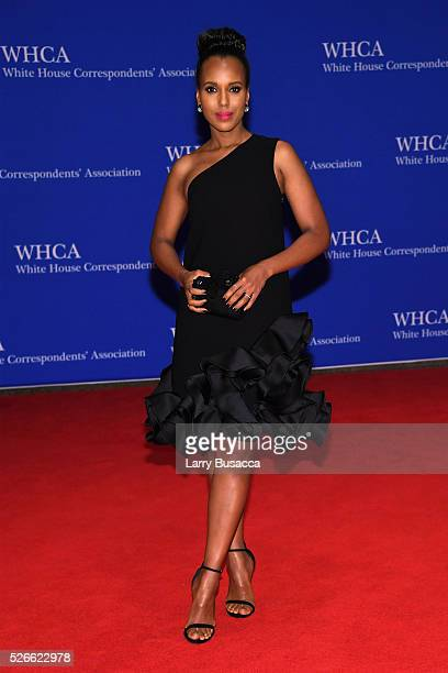Actress Kerry Washington attends the 102nd White House Correspondents' Association Dinner on April 30 2016 in Washington DC