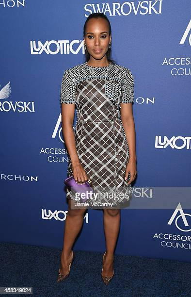 Actress Kerry Washington attends the 18th Annual Accessories Council ACE Awards At Cipriani 42nd Street at Cipriani 42nd Street on November 3 2014 in...