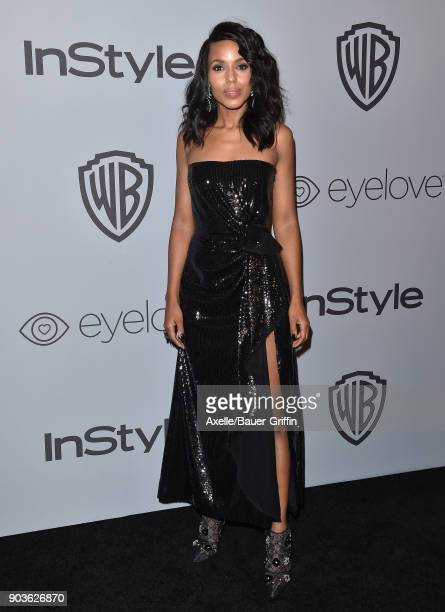 Actress Kerry Washington attends the 19th Annual PostGolden Globes Party hosted by Warner Bros Pictures and InStyle at The Beverly Hilton Hotel on...