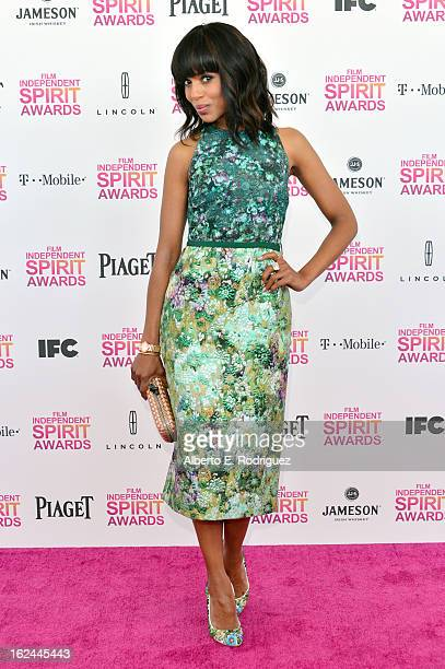 Actress Kerry Washington attends the 2013 Film Independent Spirit Awards at Santa Monica Beach on February 23 2013 in Santa Monica California