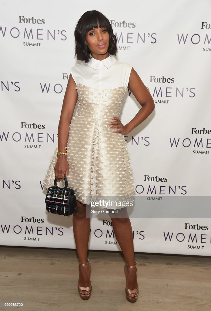 Actress Kerry Washington attends the 2017 Forbes Women's Summit at Spring Studios on June 13, 2017 in New York City.