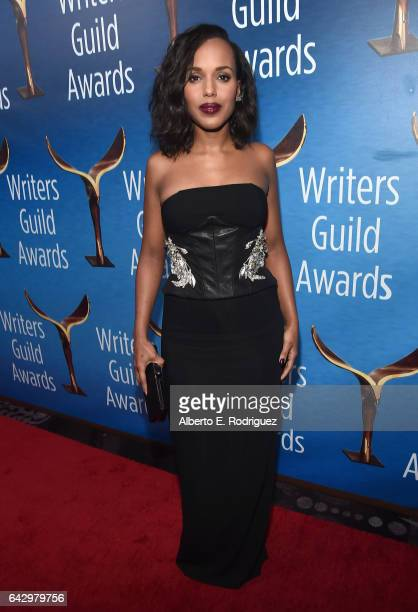 Actress Kerry Washington attends the 2017 Writers Guild Awards LA Ceremony at The Beverly Hilton Hotel on February 19 2017 in Beverly Hills California