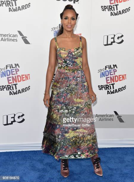 Actress Kerry Washington attends the 2018 Film Independent Spirit Awards on March 3 2018 in Santa Monica California