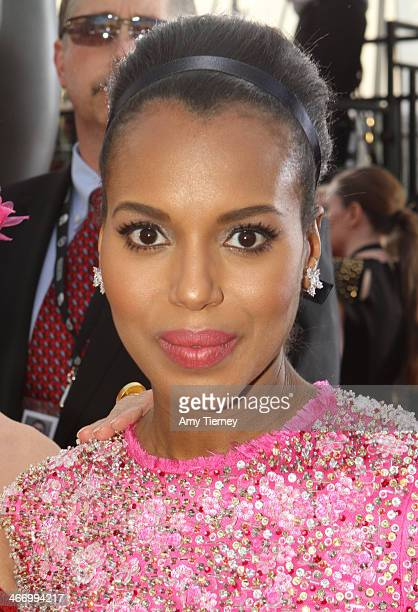 Actress Kerry Washington attends the 20th Annual Screen Actors Guild Awards at The Shrine Auditorium on January 18 2014 in Los Angeles California