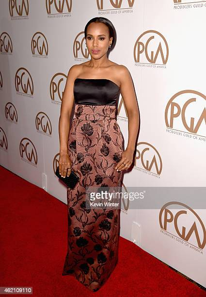Actress Kerry Washington attends the 26th Annual Producers Guild Of America Awards at the Hyatt Regency Century Plaza on January 24 2015 in Los...