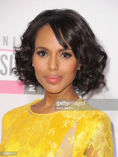 Actress Kerry Washington attends the 40th Anniversary American Music Awards held at Nokia Theatre L.A. Live on November 18, 2012 in Los Angeles,...