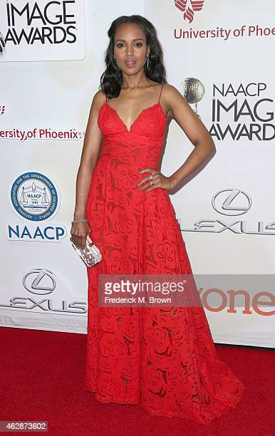 Actress Kerry Washington attends the 46th NAACP Image Awards presented by TV One at Pasadena Civic Auditorium on February 6 2015 in Pasadena...
