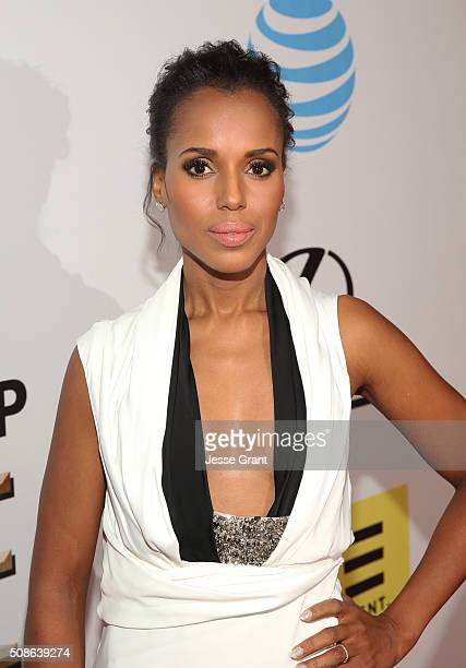 Actress Kerry Washington attends the 47th NAACP Image Awards presented by TV One at Pasadena Civic Auditorium on February 5 2016 in Pasadena...