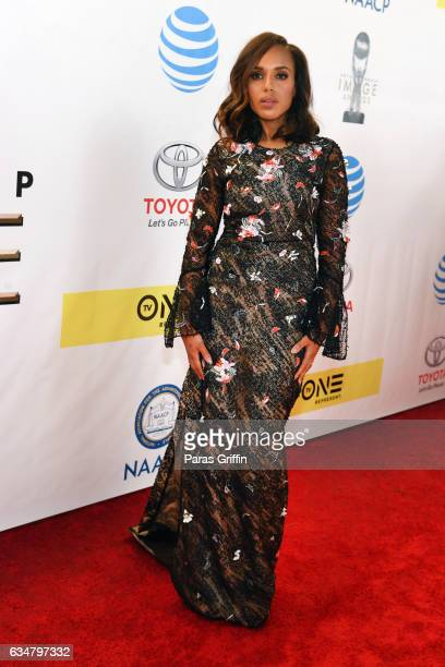Actress Kerry Washington attends the 48th NAACP Image Awards at Pasadena Civic Auditorium on February 11 2017 in Pasadena California
