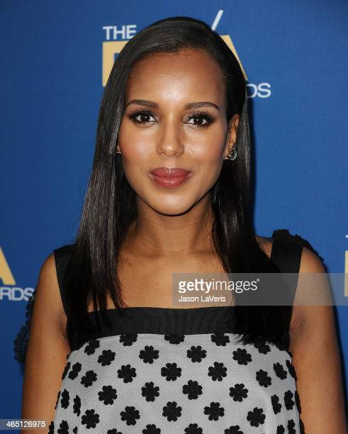 Actress Kerry Washington attends the 66th annual Directors Guild of America Awards at the Hyatt Regency Century Plaza on January 25 2014 in Century...