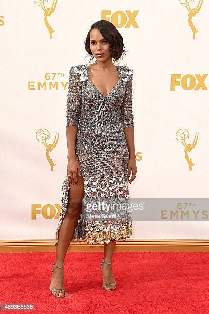 Actress Kerry Washington attends the 67th Annual Primetime Emmy Awards at Microsoft Theater on September 20 2015 in Los Angeles California
