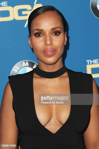 Actress Kerry Washington attends the 69th Annual Directors Guild of America Awards at The Beverly Hilton Hotel on February 4 2017 in Beverly Hills...