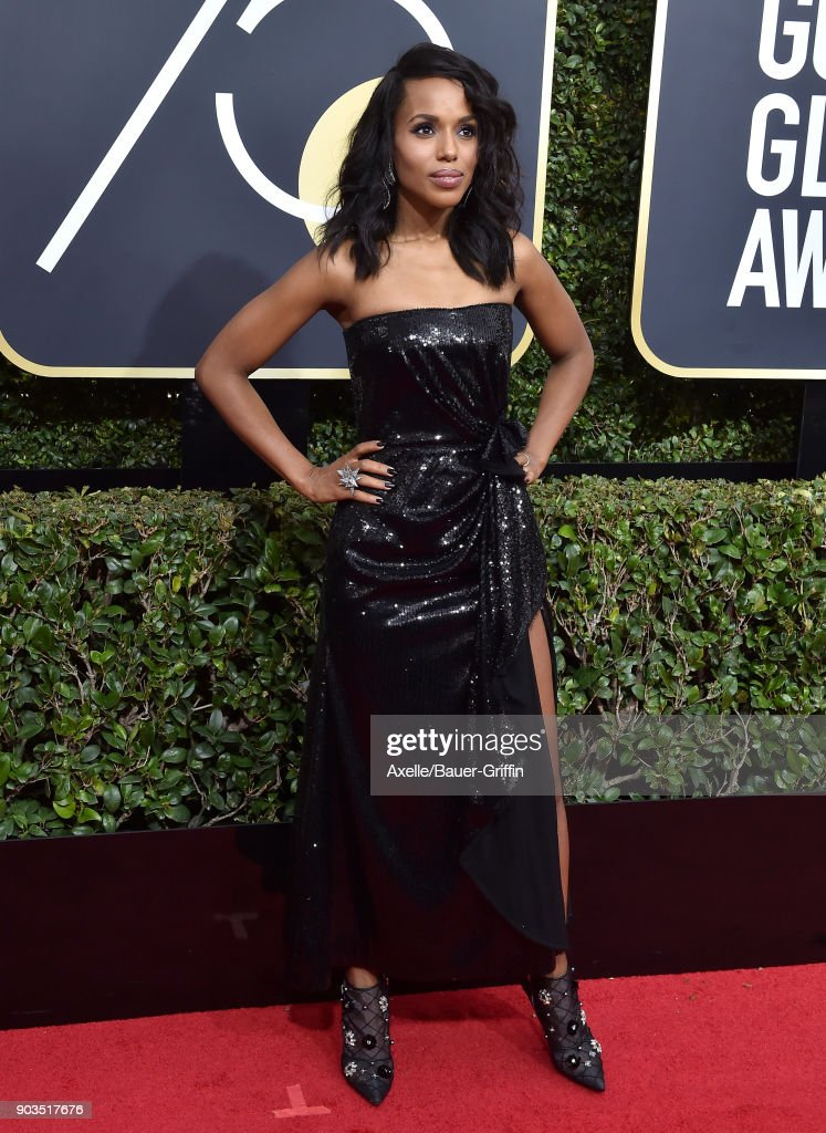 Actress Kerry Washington attends the 75th Annual Golden Globe Awards at The Beverly Hilton Hotel on January 7, 2018 in Beverly Hills, California.
