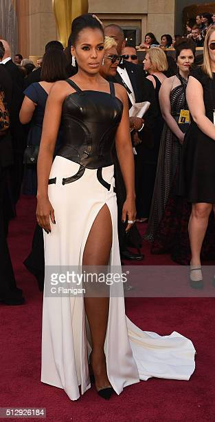 Actress Kerry Washington attends the 88th Annual Academy Awards at the Hollywood & Highland Center on February 28, 2016 in Hollywood, California.