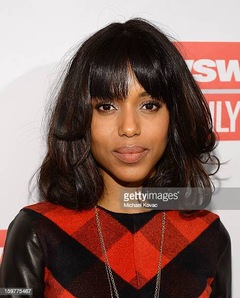 Actress Kerry Washington attends The Daily Beast BiPartisan Inauguration Brunch at Cafe Milano on January 20 2013 in Washington DC