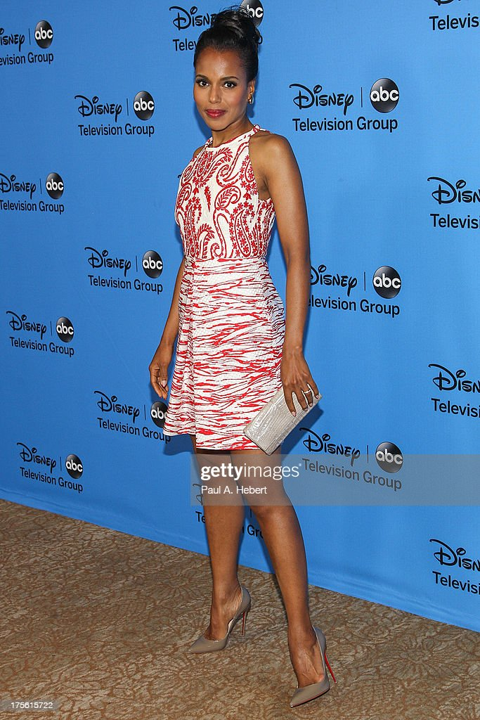 Actress Kerry Washington attends the Disney & ABC Television Group's '2013 Summer TCA Tour' at The Beverly Hilton Hotel on August 4, 2013 in Beverly Hills, California.