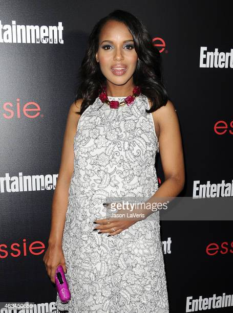 Actress Kerry Washington attends the Entertainment Weekly SAG Awards preparty at Chateau Marmont on January 17 2014 in Los Angeles California