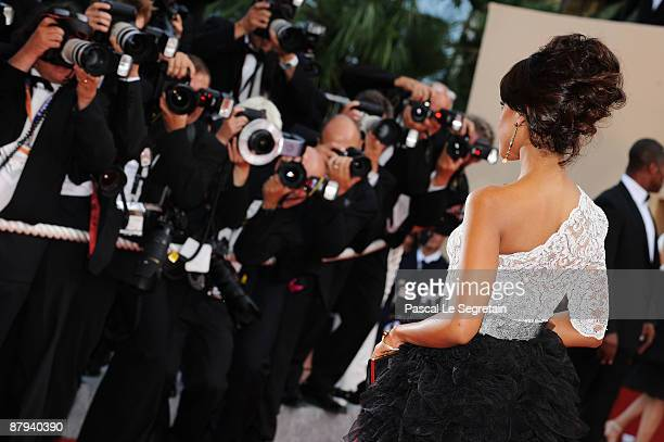Actress Kerry Washington attends the 'Face' Premiere at the Palais De Festivals during the 62nd Annual Cannes Film Festival on May 23 2009 in Cannes...