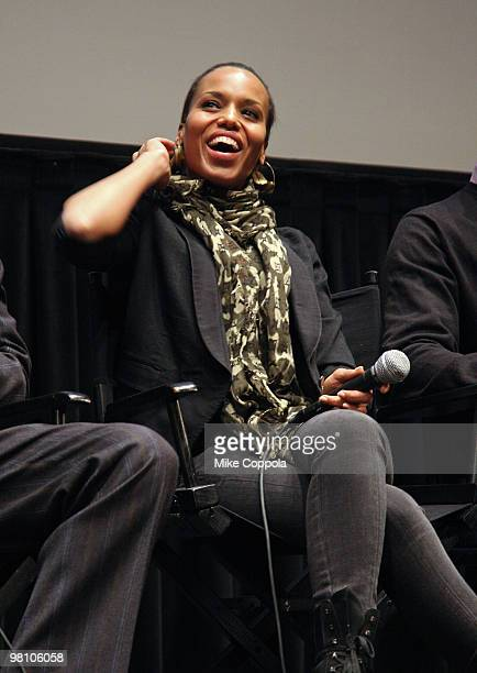 """Actress Kerry Washington attends the Film Society of Lincoln Center's """"Night Catches Us"""" at Walter Reade Theater on March 28, 2010 in New York City."""
